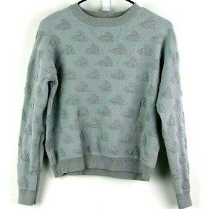Xhilaration Junior's Grey Rabbit Bunny Sweatshirt